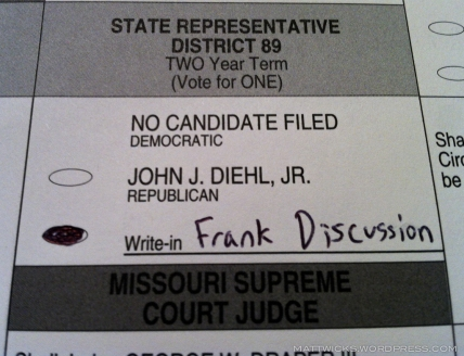 don't worry, I got my general election absentee ballot in before I left.