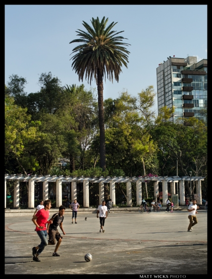 pickup game in Parque Mexico.