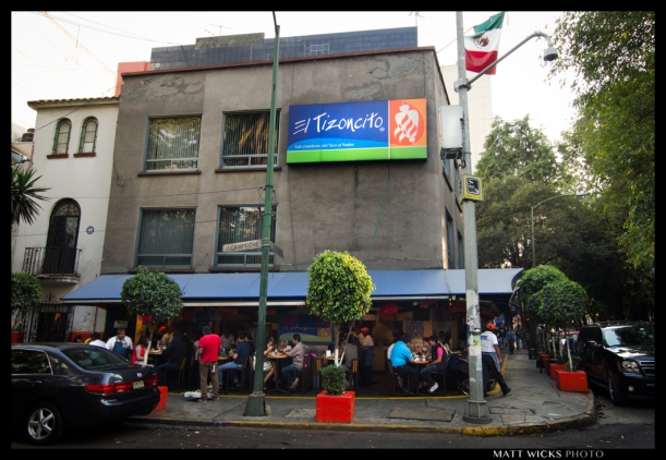 El Tizoncito, the (claimed and advertised) originator of tacos al pastor.  There are multiple locations in La Condesa.