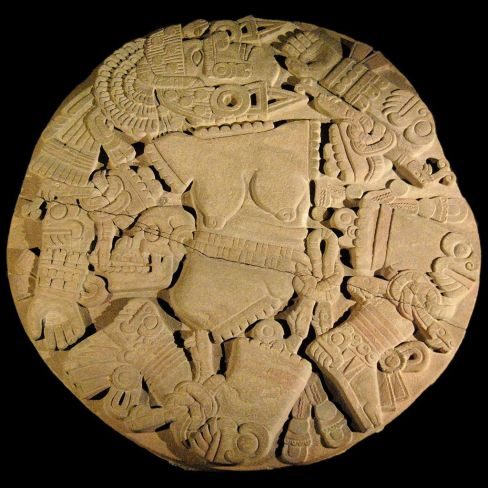 Here's what they found:  a 3.2m diameter relief of Coyolxauhqui, the Aztec moon goddess, dating to the end of the 15th century.