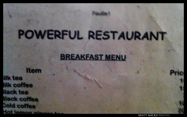 The best restaurant name in all of India?