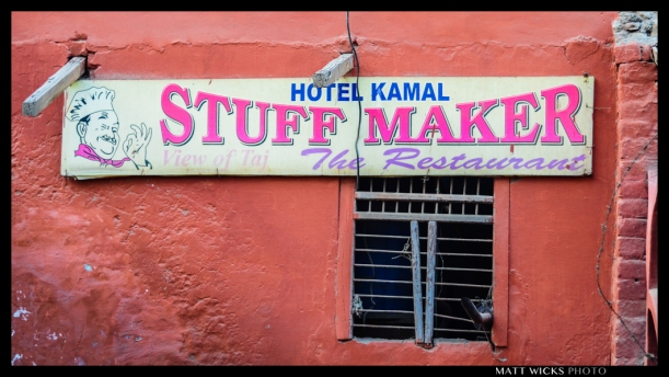 The most confusing restaurant name anywhere?  Agra, Uttar Pradesh, India.
