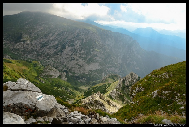 Descending Mt. Giewont (1,895m) in the High Tatras of Southern Poland in August of 2012.