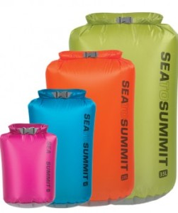 Sea to Summit Ultra-Sil dry sacks (various sizes pictured).