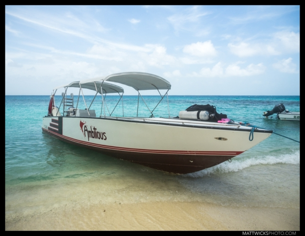 The dive boat I did my rescue diver course from in Belize.