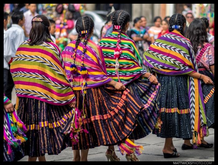 Trajes tipicos.  Xela, Guatemala.
