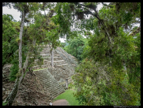 Then again, I wouldn't say this is a SMALL pyramid.  Structure 16, Copán.