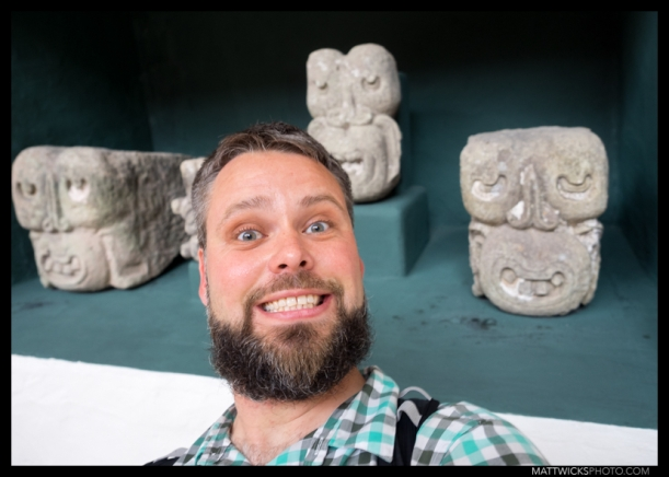 Smiley sculptures in the museum.