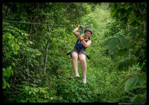 Ziplining.  Copán, Honduras.