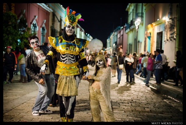 Out in the street for Dia de los Muertos in Oaxaca.  2012.