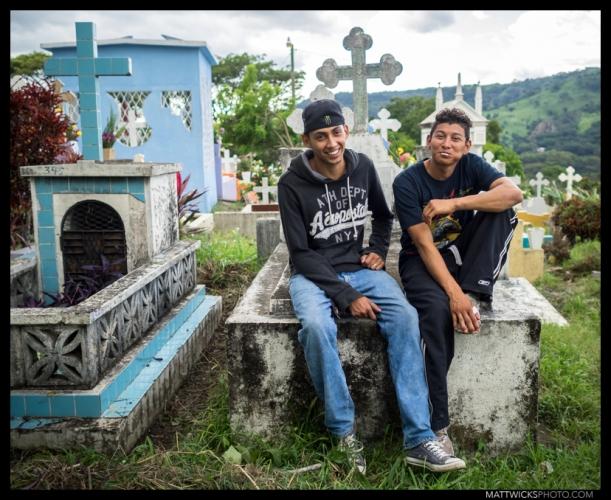 Dia de los Muertos bros.  Matagalpa, Nicaragua.