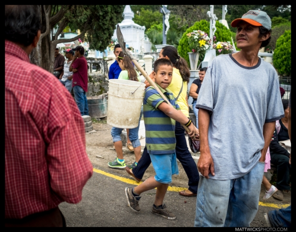 Dia De Los Muertos cemetary maintenance crew.  Matagalpa, Nicara
